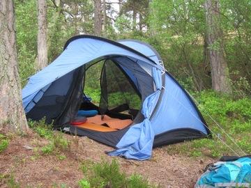 Vuokrataan (yö): Fjällraven Akka view 2-hengen teltta