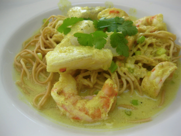 Actualité: SEAFOOD in a spicy coconut cream