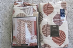 Myydään: 2 PAIRS BRAND NEW Lined curtains. One for large window/balco