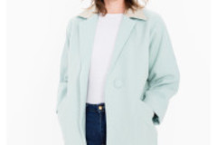 Myydään: Long Wool Coat - Menthe color