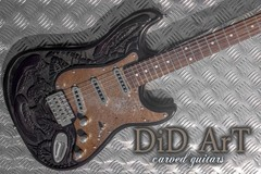 Guitar selling: Unique hand made and carved guitar. Alien H.R Giger homage.
