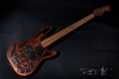 Guitar selling: Unique hand made and carved bass: the Dragon Bass