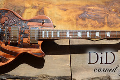 Guitar selling: Unique hand made and carved guitar: freedom