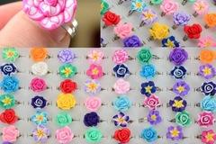 Selling: (400) adjustable flower rings