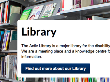 Giving Away: Activ Foundation Library