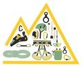 Rental gear: Climbing hardware: Metalwork etc