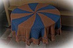 Selling: Shetland Shawl - blue/brown