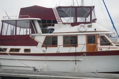 Selling: '84 41 foot trawler with lots of wood in beautiful shape