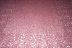 Selling: Shetland shawl - shell pink