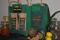 Selling: Green Jute Gift Bag with 2 Sri Lankan Curry Kits