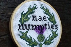 "Selling: ""Nae Numpties"" Cross Stitch Kit"