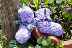 Selling: Baby bootees - Lilac