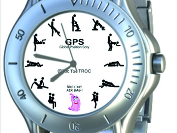 Sale retail: Montre Homme l'amour en GPS - Global Position Sexy