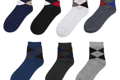 Sell: (250) Men Dress Argyle Crew Socks Wholesale Assorted Styles