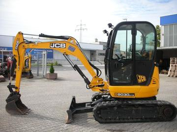 Hourly Equipment Rental: JCB 8030ZTS 3T Mini Excavator