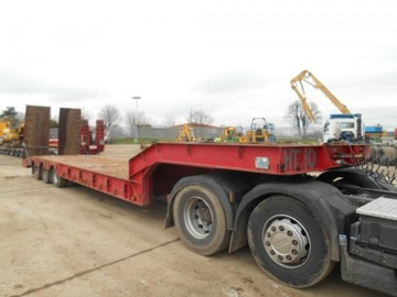 Daily Equipment Rental: Andover Tri-axle Plant Trailer
