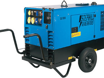 Hourly Equipment Rental: 10 KVA 230/115V Trolley mounted generator