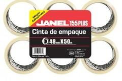 Sólo anuncio: Cinta de empaque Janel transp, Emp-/6 pzas medidas 48x50