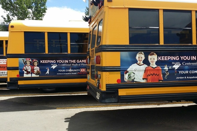 Colorado School Bus Advertising - Adfresco