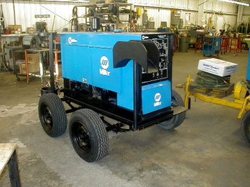 Hourly Equipment Rental: Wheel mounted arc welding machine
