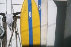 "Rental: 6'7"" ULI Inflatable Surfboard Fish"