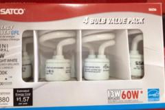 Sell: Satco S6236 120v E26 13watts mini spiral 4100K light bulbs