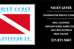 Offering: Hull Cleaning/Underwater Services - Melbourne, FL