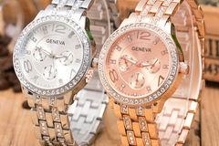 Selling: (20)Luxury Fashion Geneva Women's Crystal Stainless Steel