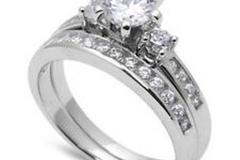 Sell: 192 Unit of 18K Silver Plated Cubic Zirconia Rings