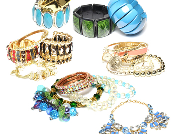 Buy Now: (474) Wholesale Mixed Rhinestone Alloy Bracelets Cuff Bangle