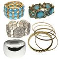 Buy Now: (474) Wholesale Mixed Rhinestone Alloy Bracelets Cuff Bangle