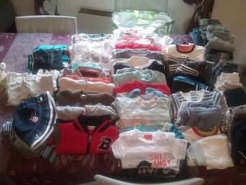 Vente: Gros lot de vêtements 1 mois 3 mois  garcon