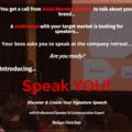Event: Speak YOU! Create & Deliver your Signature Speech - Workshop