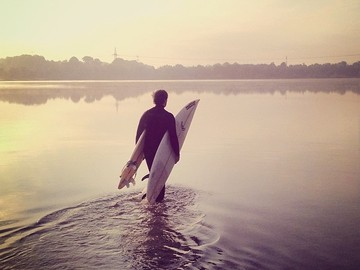 For Rent: 8'0 Fun board for Munich's rivers