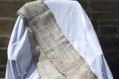 A vendre: Echarpe tweed noir et blanc, alpaga et laine