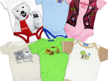 Buy Now: (84) Newborn Infant Baby Wholesale Bodysuit Onesie Clothing