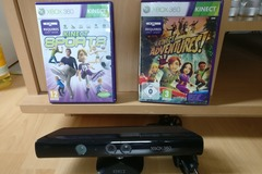 Myydään: Kinect + two interactive games (for Xbox360)
