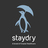 Staydry logo charcoal vertical