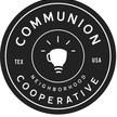 Communion logo round black