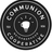 Communion logo round black