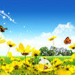 Cartoon garden wallpapers %283%29