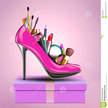 Los cosm%c3%a9ticos fijaron en el zapato de una mujer que se colocaba en el regalo 38002060