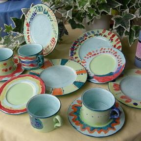 Ceramic-Café Pinselstrich